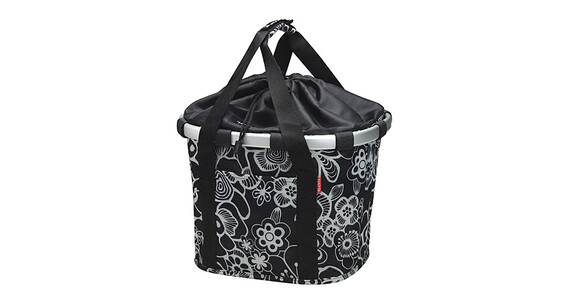 KlickFix Reisenthel Bikebasket fleur schwarz